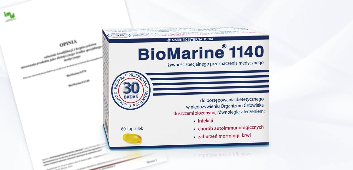 Opinia odnośnie kwalifikacji ibezpieczeństwa stosowania produktu BioMarine<sup>®</sup> jako dietetycznego środka spożywczego specjalnego przeznaczenia medycznego.