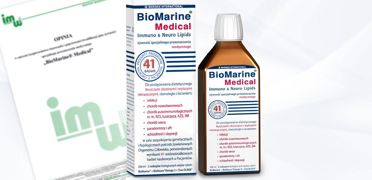 Opinia odnośnie kwalifikacji ibezpieczeństwa stosowania produktu BioMarine<sup>®</sup>Medical jako żywności specjalnego przeznaczenia medycznego.