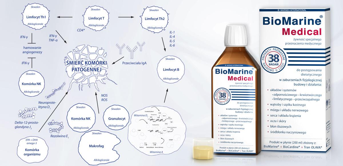 Porównanie immunostymulujących właściwości inozyny zBioMarine<sup>®</sup> wykorzystywanym przezorganizm doimmunoregulacji.