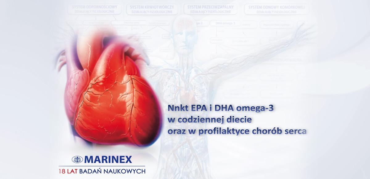 Wkt EPA iDHA omega-3 wcodziennej diecie orazwprofilaktyce chorób serca.