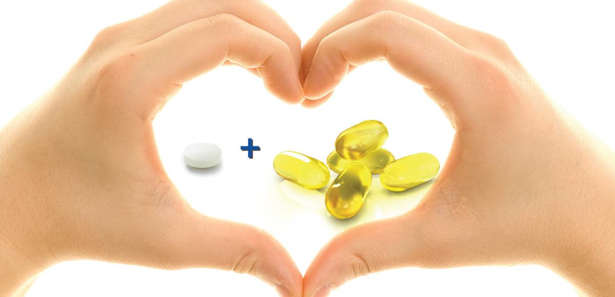 Kwasy tłuszczowe EPA iDHA omega-3 wzmacniają skuteczność przeciwzakrzepowej terapii aspiryną orazaspiryną iklopidogrelem.